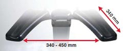 Topro Taurus arm rest dimensions